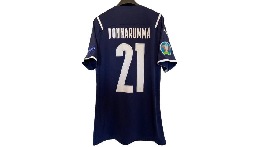 Donnarumma's Match Shirt, Turkey-Italy 2021