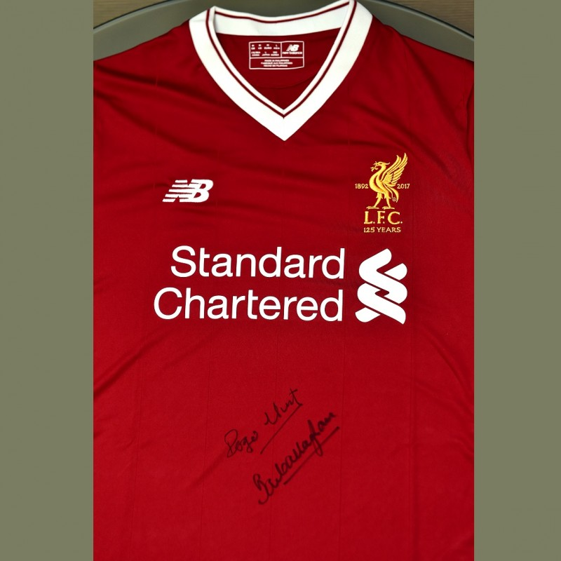 LFC 125 home shirt signed by the Legends Roger Hunt and Ian Callaghan