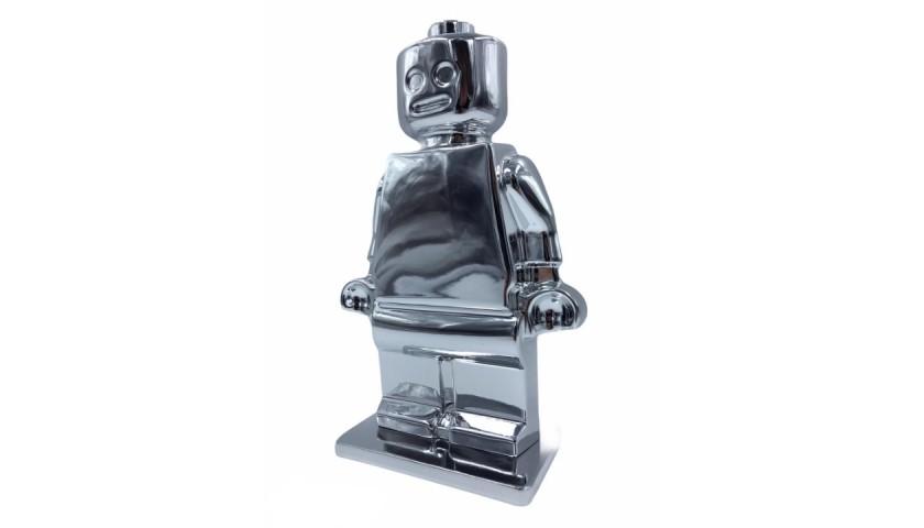 """Alter Ego Oscar Silver"" - Sculpture by Alessandro Piano"