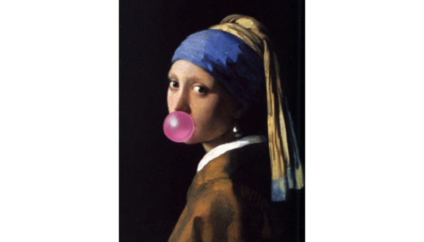 """""""Girl With The Pearl Earring Bubble Gum"""" by Thomas Hussung"""