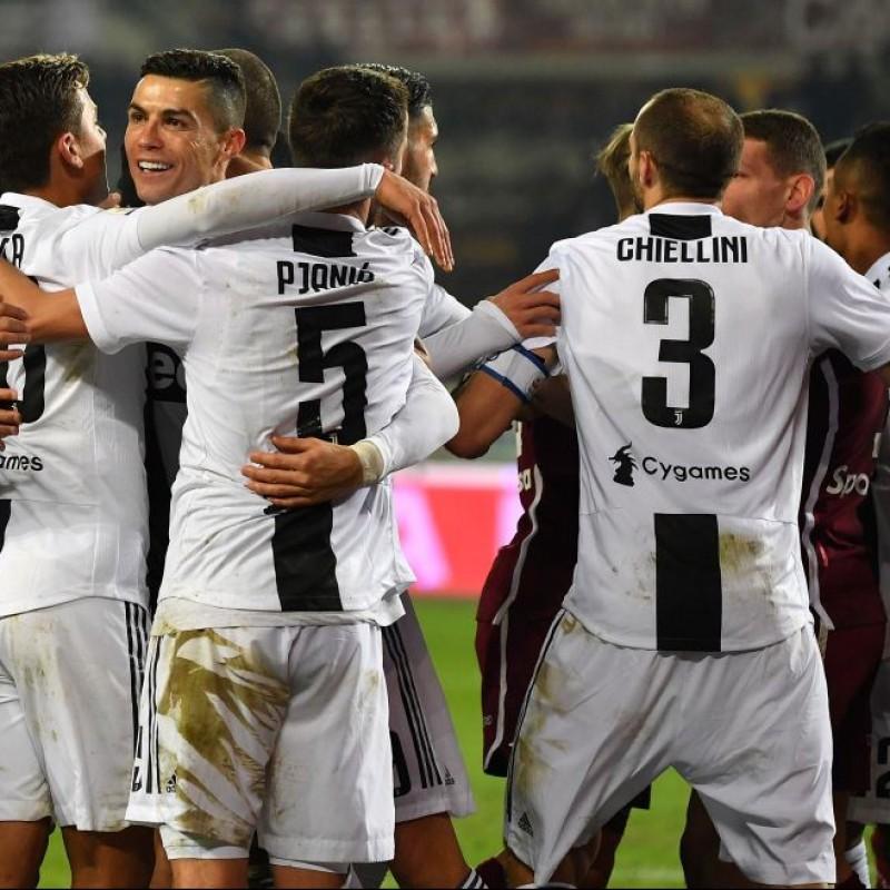 Chiellini's Worn Shirt, Torino-Juventus 2018 - UNWASHED