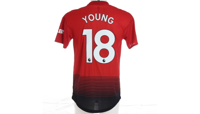 Ashley Young's Manchester United Match Shirt, PL 2018/19