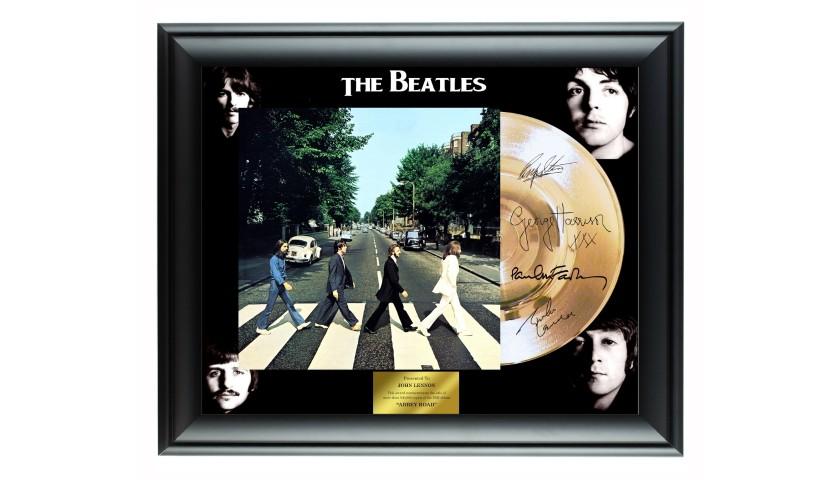 The Beatles Custom Framed Gold Record Display