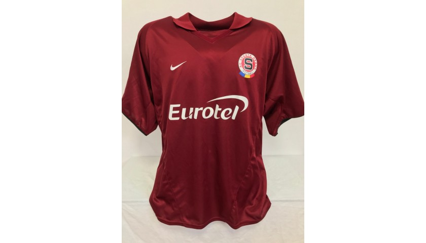 Poborsky's Sparta Prague Signed Match Shirt, 2003/04