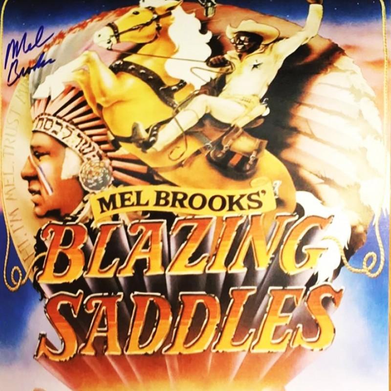 "Mel Brooks Hand Signed ""Blazing Saddles"" Movie Poster"