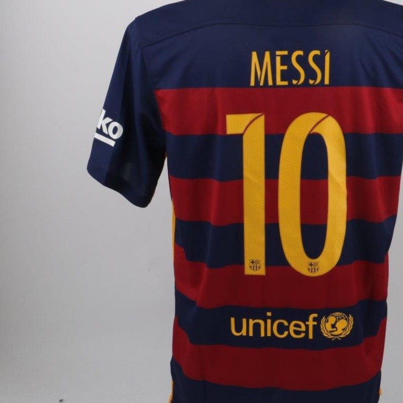 Official Messi Barcelona shirt, Liga 2015/2016 - signed