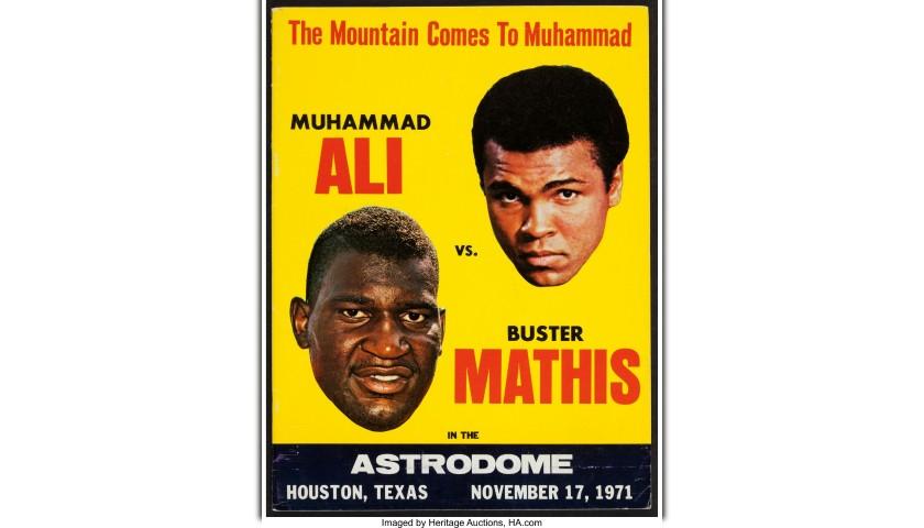 Muhammad Ali Signed Fight Ticket, 1971