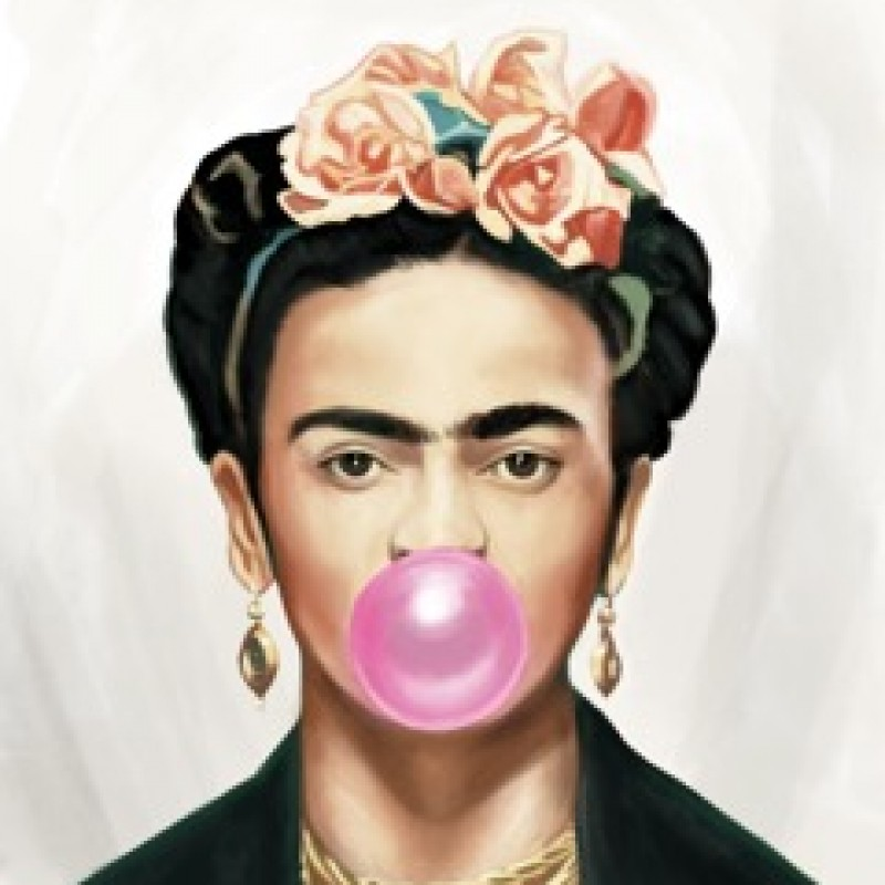 """""""Frida Kahlo Bubble Gum"""" by Thomas Hussung"""