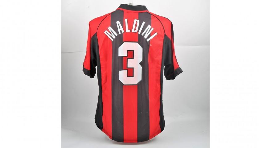 Maldini's Match-Worn Milan Shirt, Serie A 1999/00