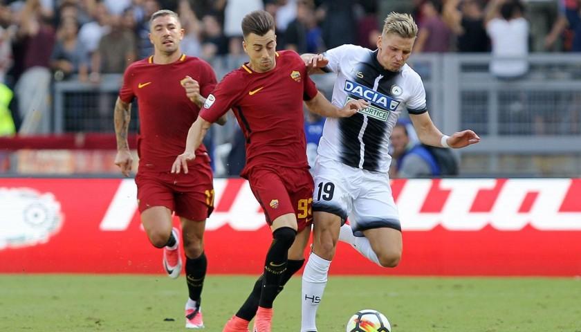 Scendi in campo come mascot in occasione di Udinese-Roma