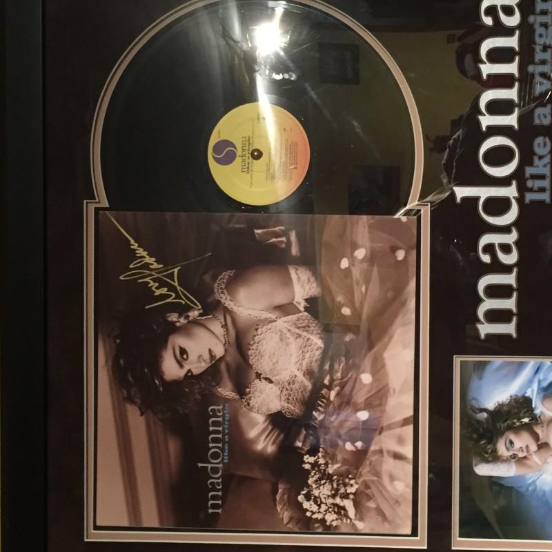 """LP Madonna Album """"Like a virgin"""" signed"""