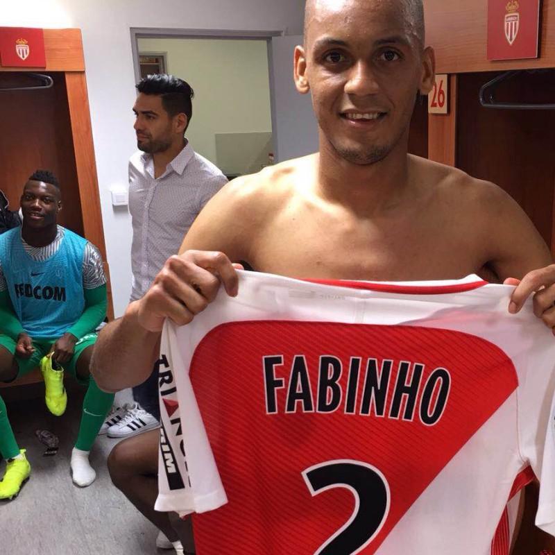 Match worn Fabinho shirt, Monaco-PSG 28/08/16