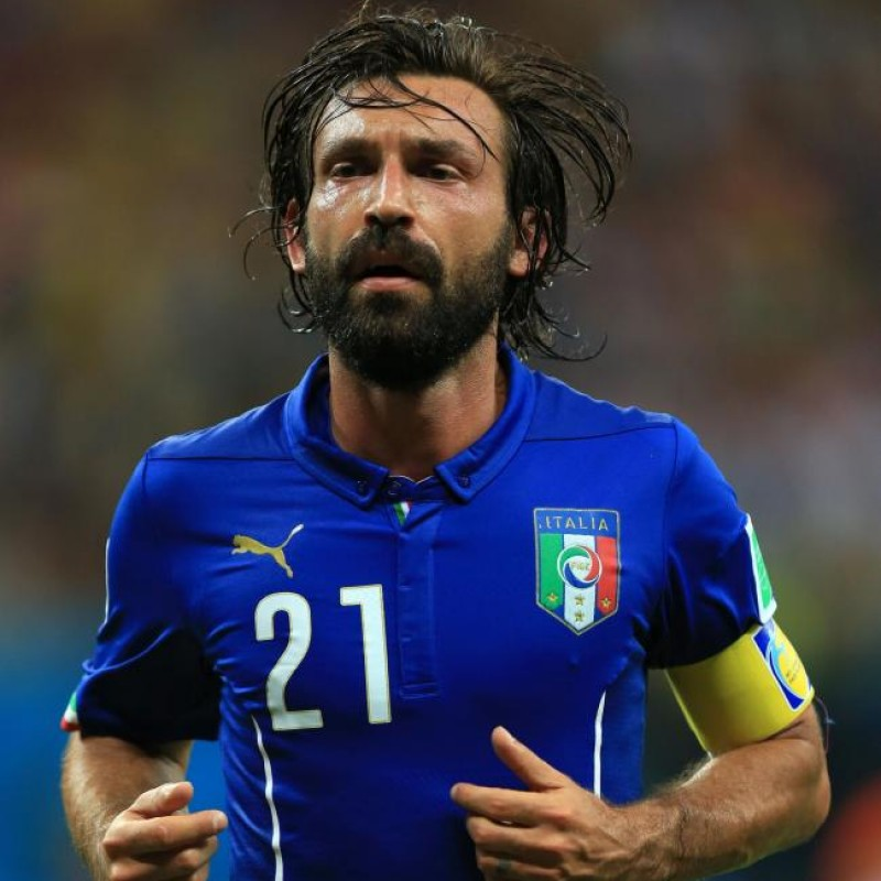 Pirlo's Official Italy Signed Shirt, 2014