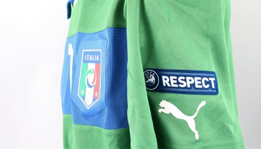 Buffon's Italy Match Shirt, Euro 2012 Final