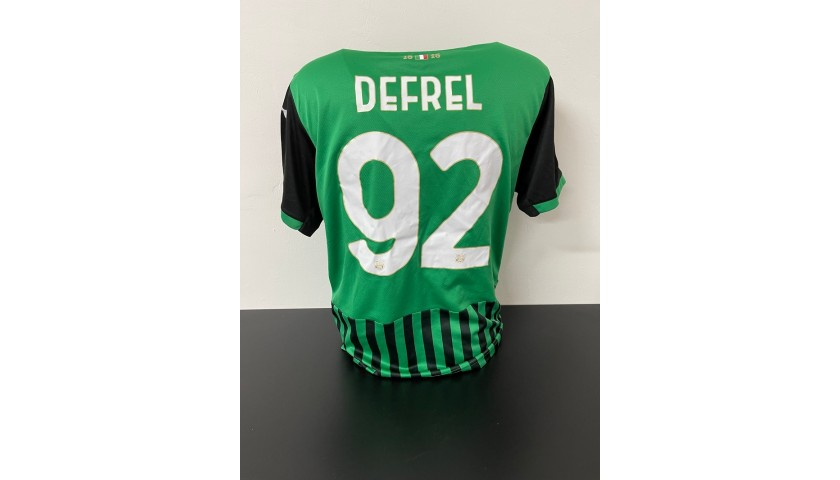 Defrel's Lazio-Sassuolo Match Shirt, 2021