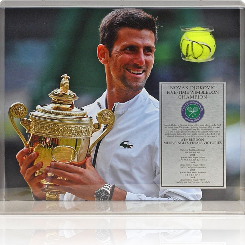 Novak Djokovic Hand Signed Tennis Ball