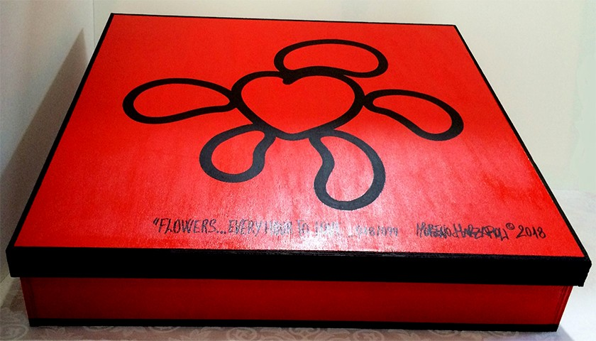 "Wall Clock ""Flowers...Every Hour To Love"" by Moreno Marzaroli"