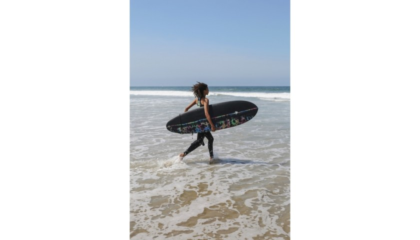 Electric & Rose X Earth Technologies One Of A Kind Surfboard