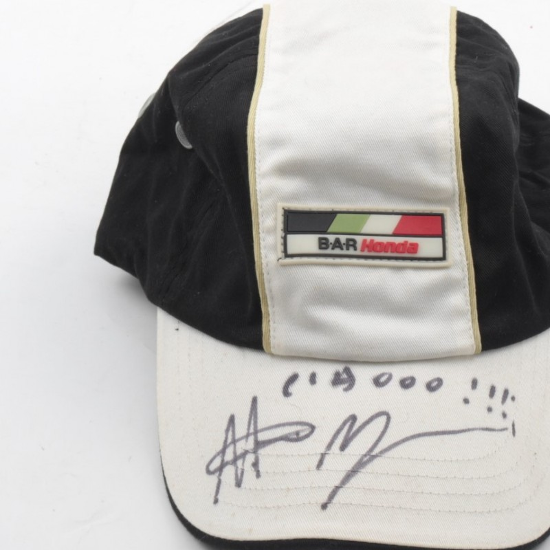 Official Bar Honda hat, signed by Rubens Barrichello