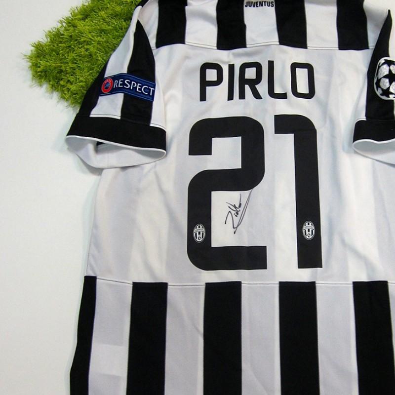 Pirlo Juventus shirt, Champions League 2014/2015 - signed