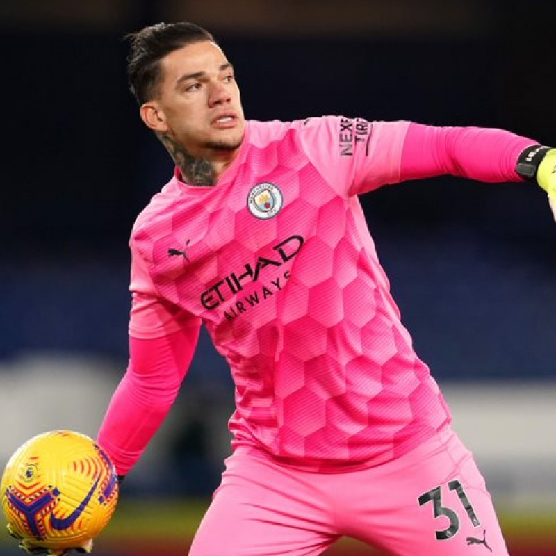 Ederson's Man City Match-Issued Signed Shirt