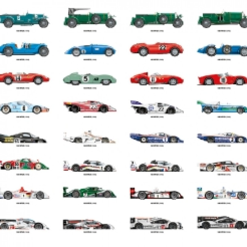 24h Le Mans Winners Art Print