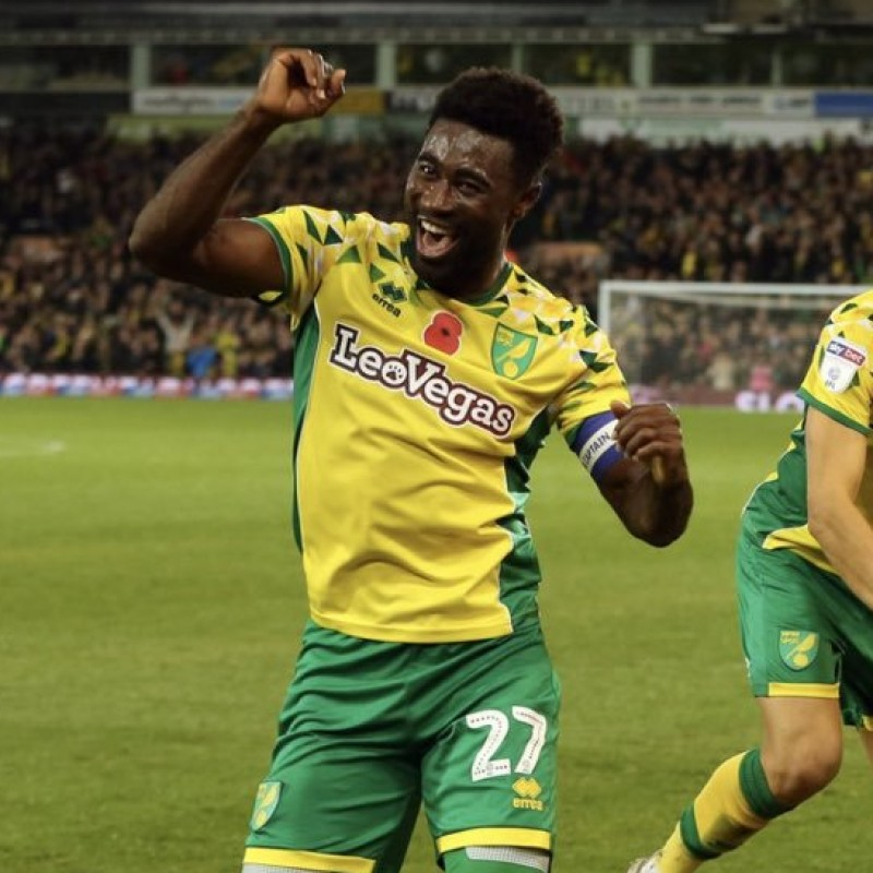 Tettey's Norwich Poppy Match Shirt - Signed