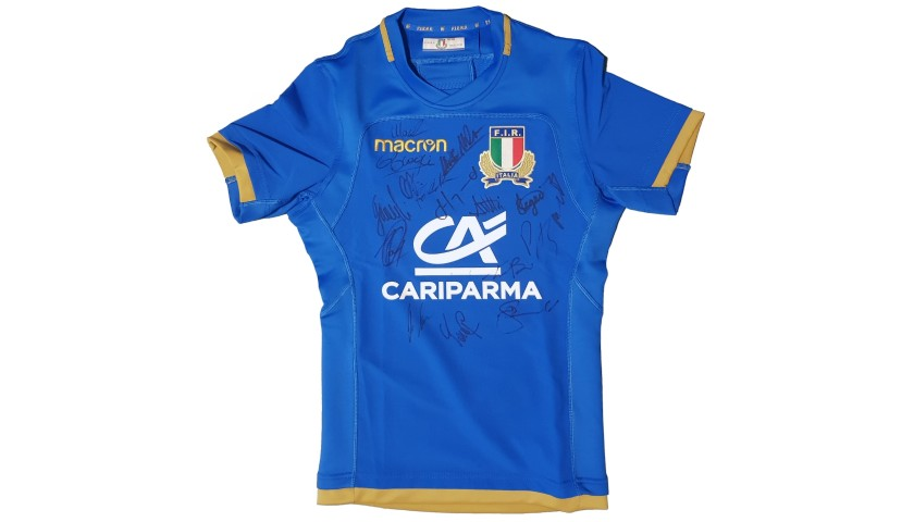 Official FIR Rugby Shirt, 2017 - Signed by the Squad