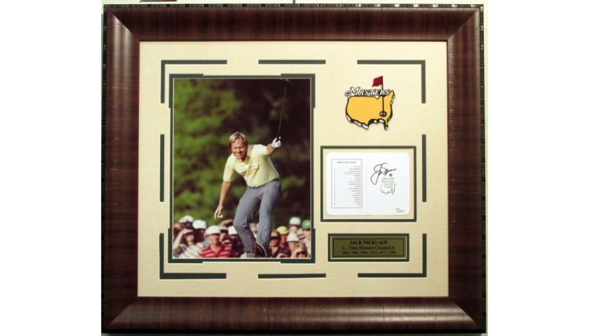 Jack Nicklaus Signed 1986 Masters Scorecard