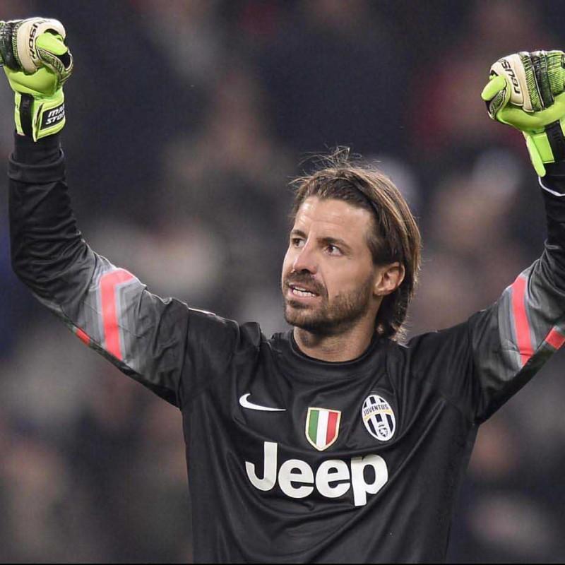 Maglia Storari Juventus, preparata / indossata UCL 2014/15