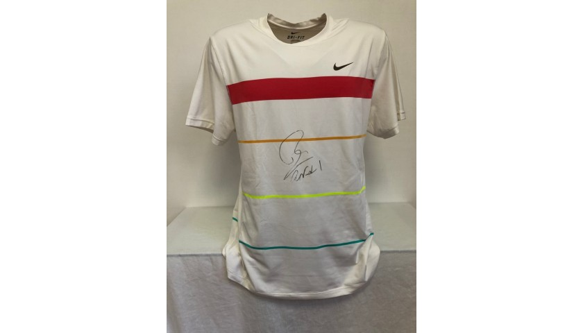 Rafa Nadal's Worn and Signed Shirt, Indian Wells 2010