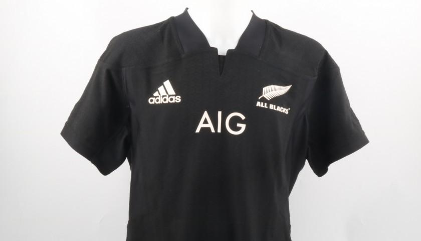 Patrick Tuipulotu Match Worn Shirt, Italy-All Blacks 12/11/16