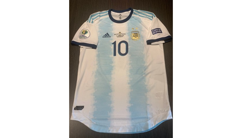 Messi's Signed Match Shirt, Argentina-Columbia 2019