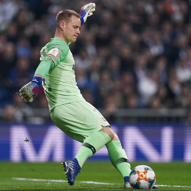 Maglia Ter Stegen preparata Real Madrid-Barcellona 2019