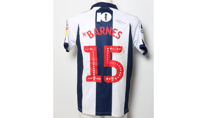 Harvey Barnes West Bromwich Albion Worn And Signed Home Poppy Shirt Charitystars
