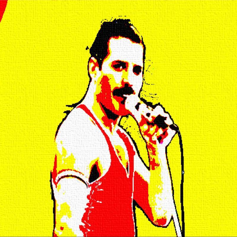 """""""Freddie Mercury"""" Original Board by Gabriele Salvatore"""