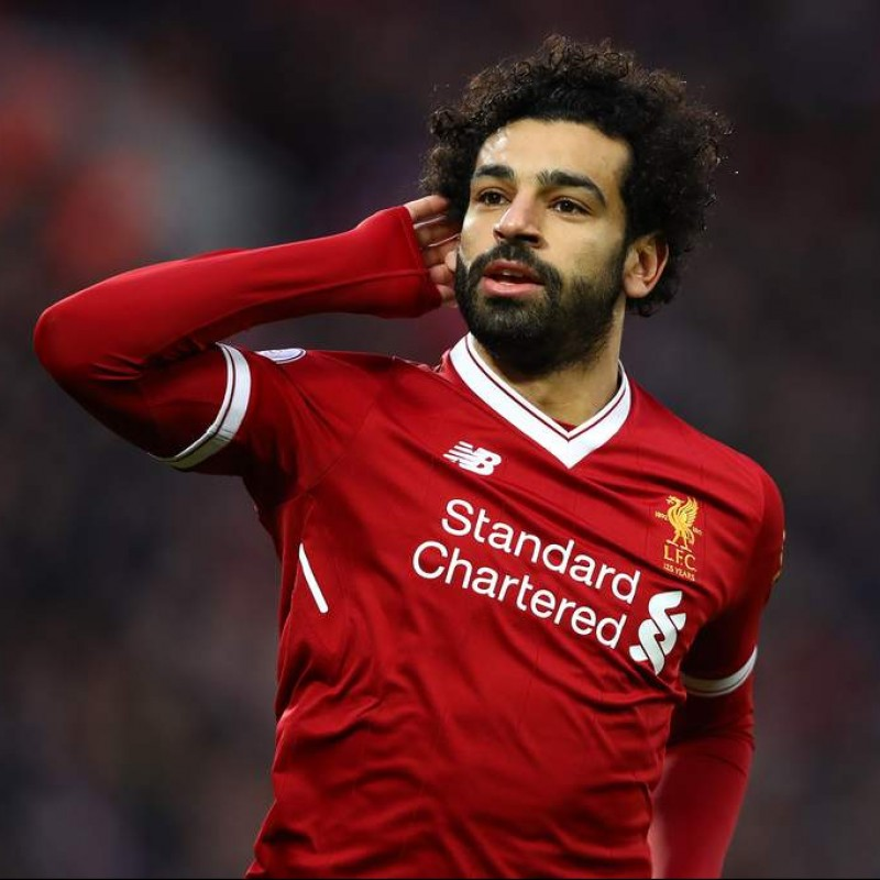 78cfb91dd Mohamed Salah Signed Liverpool FC 18 19 Home Shirt