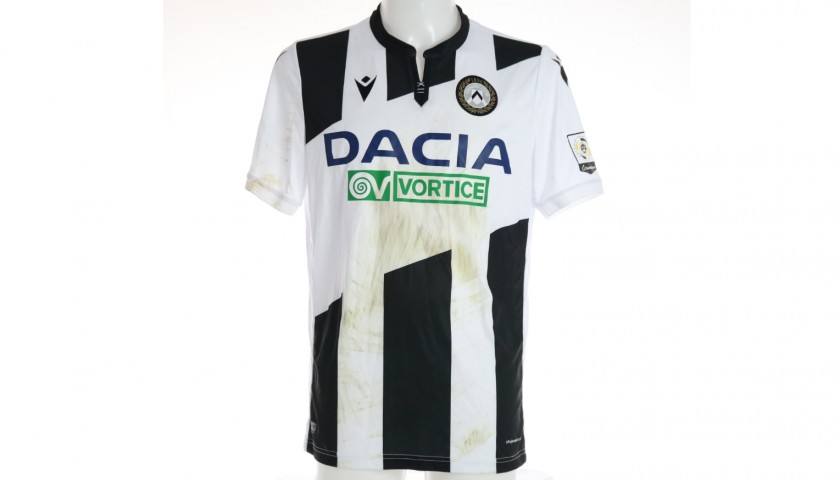 Lasagna's Special Worn Shirt, Udinese Calcio -SPAL