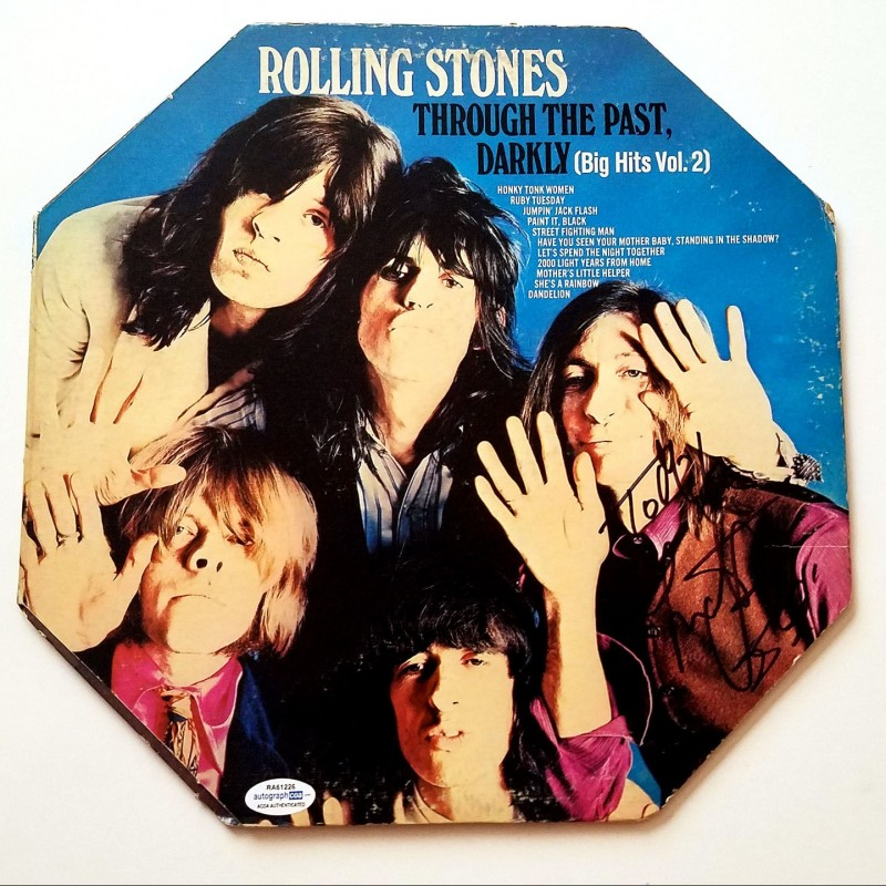"""Charlie Watts """"The Rolling Stones"""" Hand Signed Record Album"""