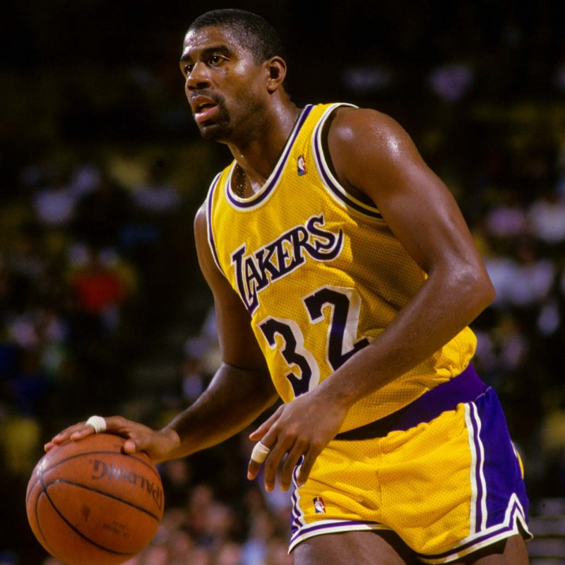 Magic Johnson LA Lakers Signed Shirt