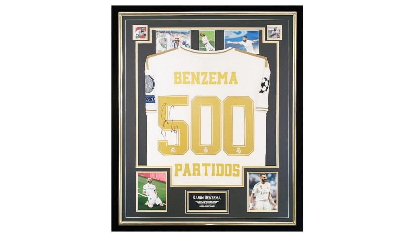 Benzema's 500 Partidos Real Madrid Signed Shirt