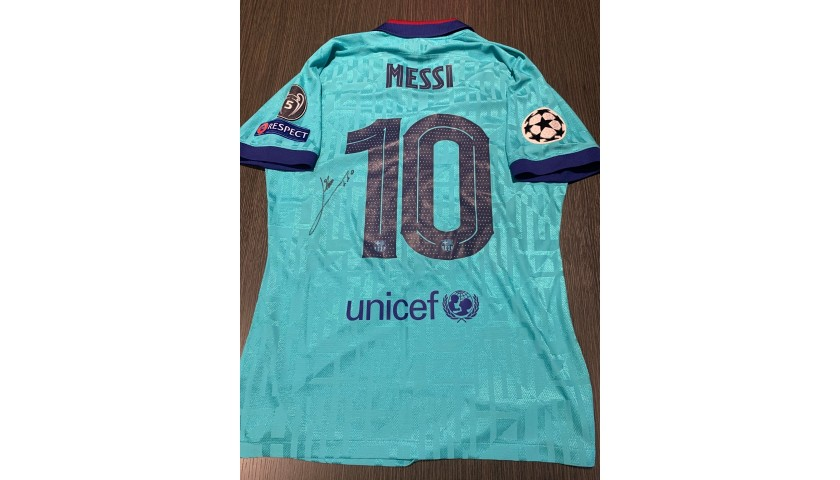 Messi's Barcelona Signed Match Shirt, UCL 2019/20