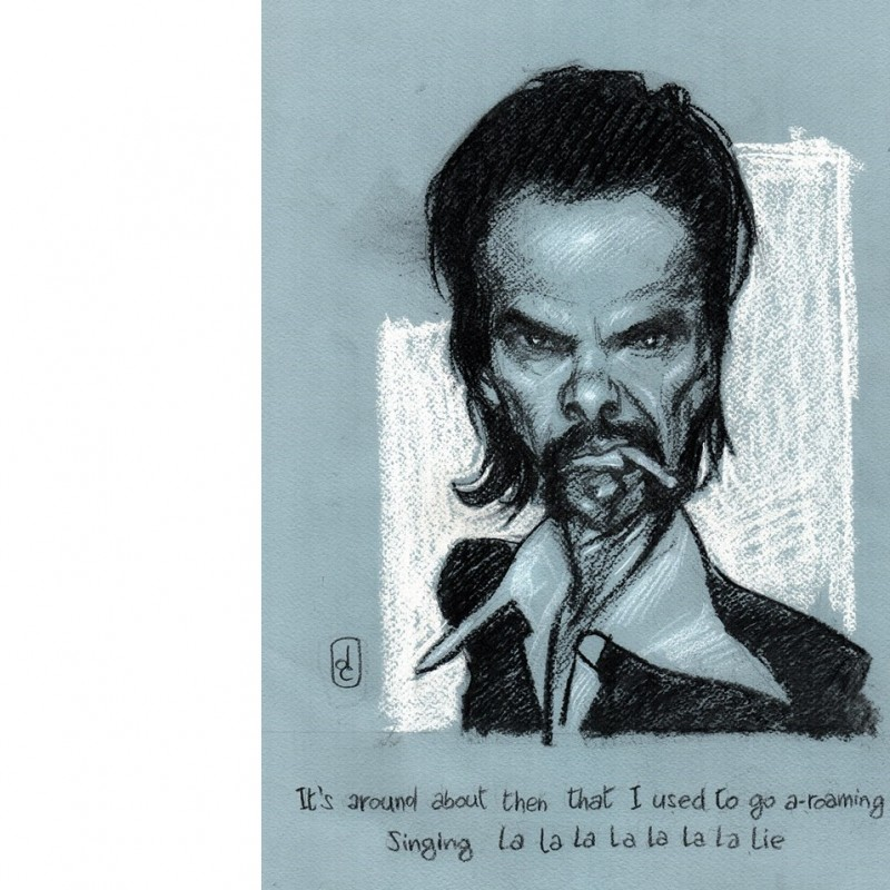 Nick Cave and the Bad Seeds' portrait by Daniele Caluri