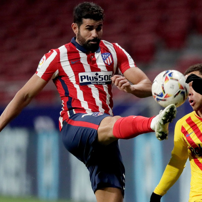 Diego Costa's Atletico Madrid Match Shirt, UCL 2020/21