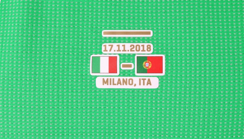 Donnarumma's Match Shirt, Italy-Portugal 2018