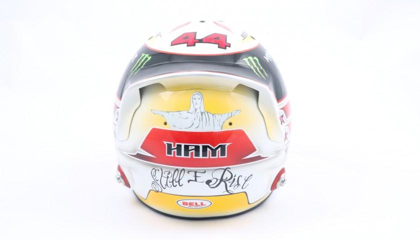 Hamilton's Signed Replica Helmet, 2015 Season