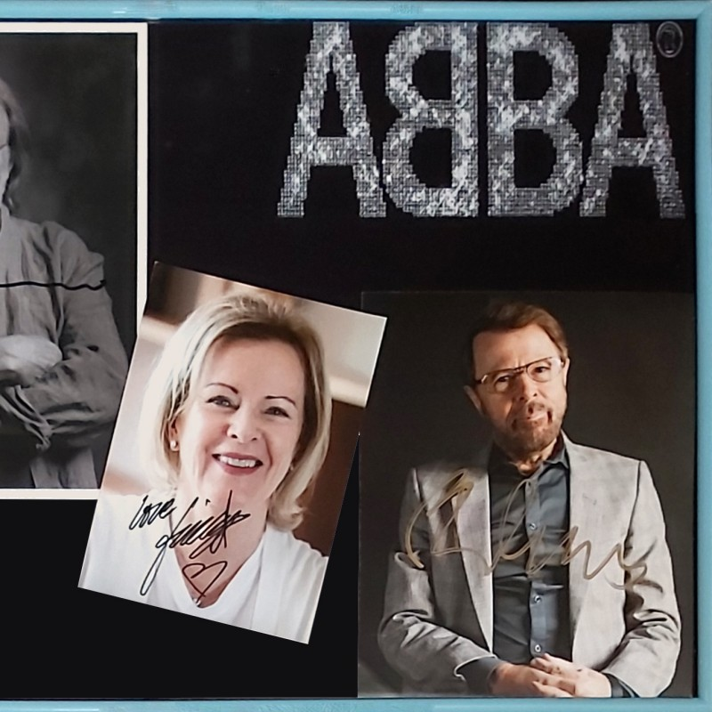 ABBA Signed and Framed Photographs