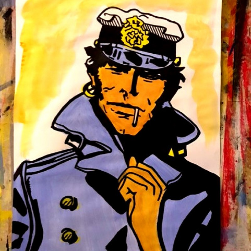 """Cortomaltese"" Original Artwork by Riccardo Penati"