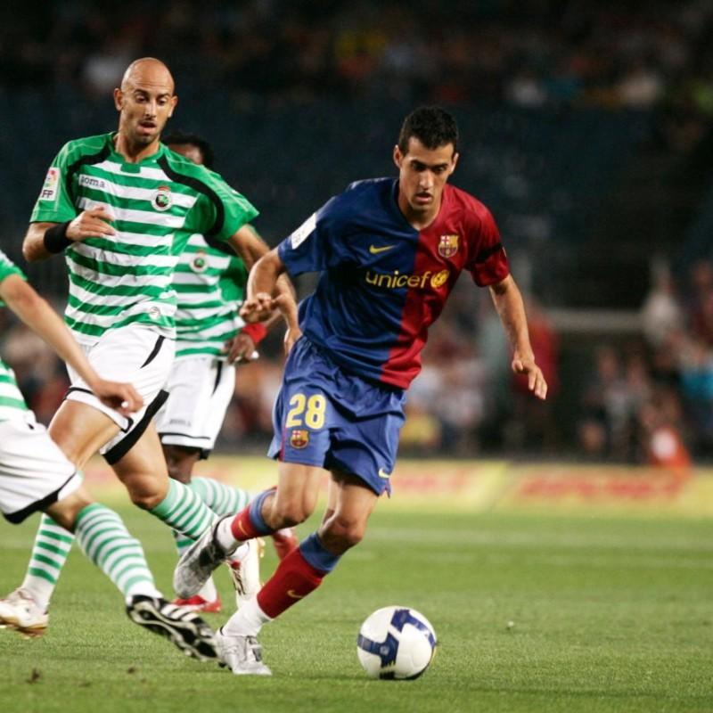 Busquets' Barcelona Match Shirt, Liga 2008/09