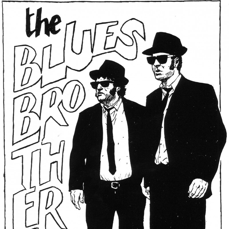 """The Blues Brothers"" Board Signed by Bruno Ramella"